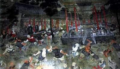 Фреска в монастыре Шаолинь